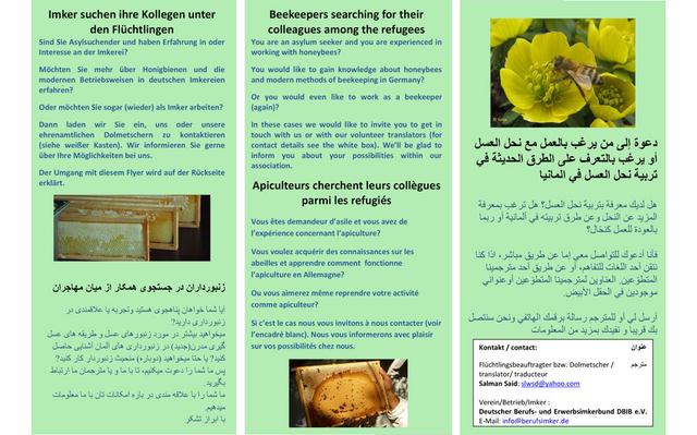 Flyer zum Projekt Refu-Bee