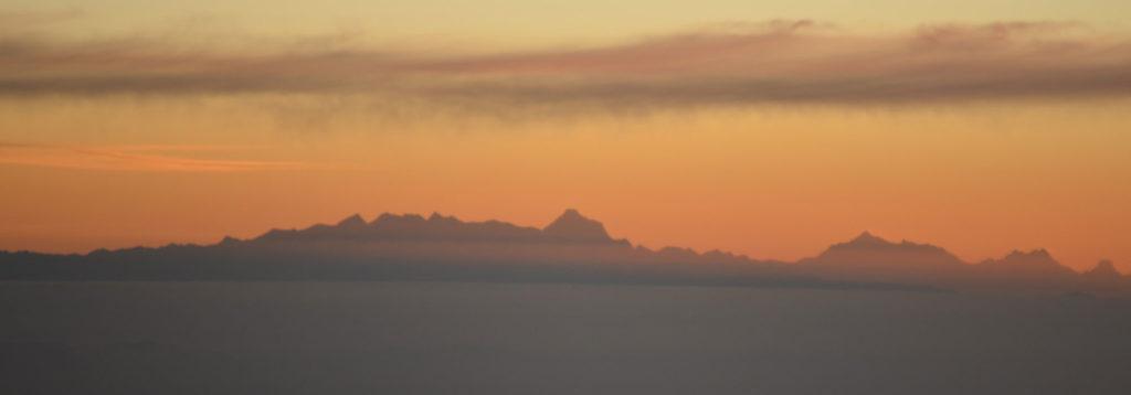 Skyline Landschaft Nepal