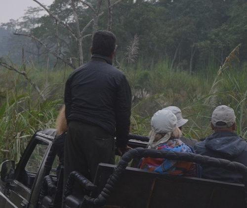 Mit dem Jeep geht es durch das Dickicht des Dschungels
