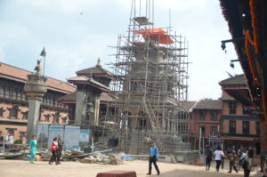 Tempel noch im Wideraufbau