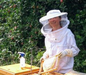 Bienen füttern mit Honig - Margot Erber