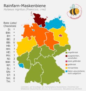 Rainfarn-Maskenbiene - Verbreitung in Deutschland - Grafik_ Deutschland summt